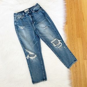 PacSun | High Rise Distressed Mom Jeans